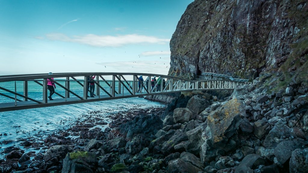 percorso trekking The Gobbins Cliff Path